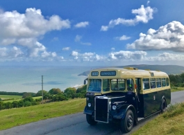 Vintage bus for wedding hire in Taunton